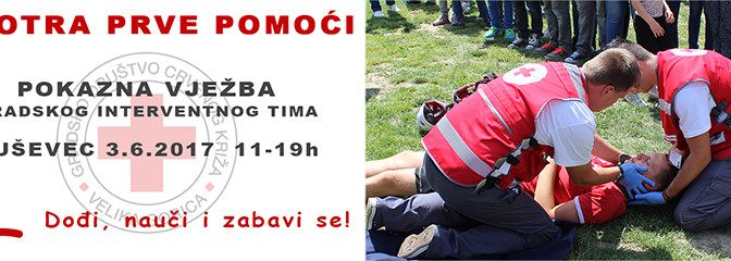 Smotra prve pomoći i pokazna vježba Crvenog križa Velika Gorica – Buševec 03.05.2017.