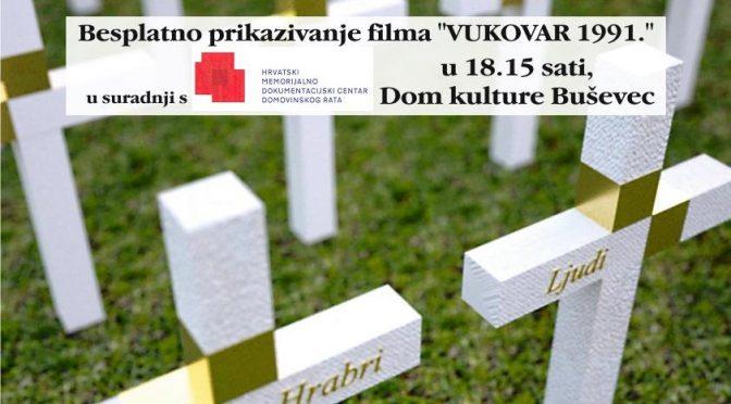 """Za Vukovar """"DA SE NE ZABORAVI"""""""